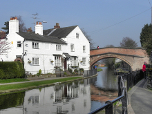 Lymm, Bridgewater House and Lymm Bridge, Cheshire © David Dixon